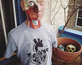 Anatomical Heart T-shirt (Black/Gray)