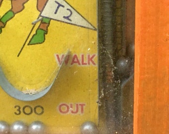 Antique Pinball Game- Push Em Up