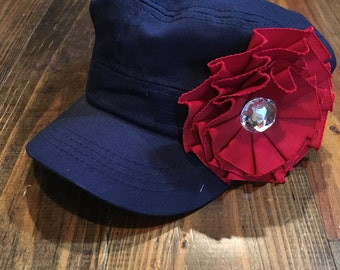 Navy and Red hat