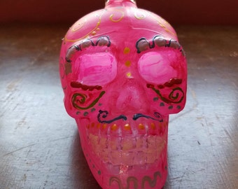 Glass skull decanter-small