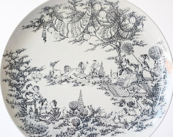 "Huge 36 cm / 13.4"" Bjørn Wiinblad - platter / wall plate - MIDSUMMER nights dream - for Nymølle Denmark -14 inches - mid century"