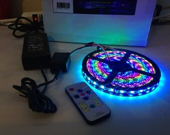 Dream LED Kit WS2811 5050 RGB Kit - Remote / Power Supply 60 LED /M DC12V Strip 16 ft