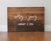 Wedding Sign, Welcome Wedding Sign, Name and Date Sign, Wedding Gift, Wedding Signage, Personalized Wedding Gift
