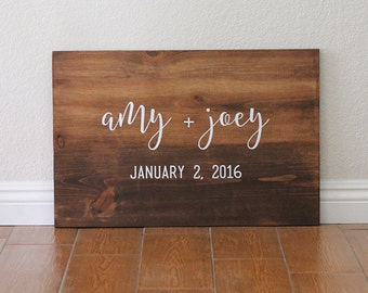 Wedding Sign, Welcome Wedding Sign, Name and Date Sign, Wedding Gift, Wedding Signage, Personalized Wedding Gift