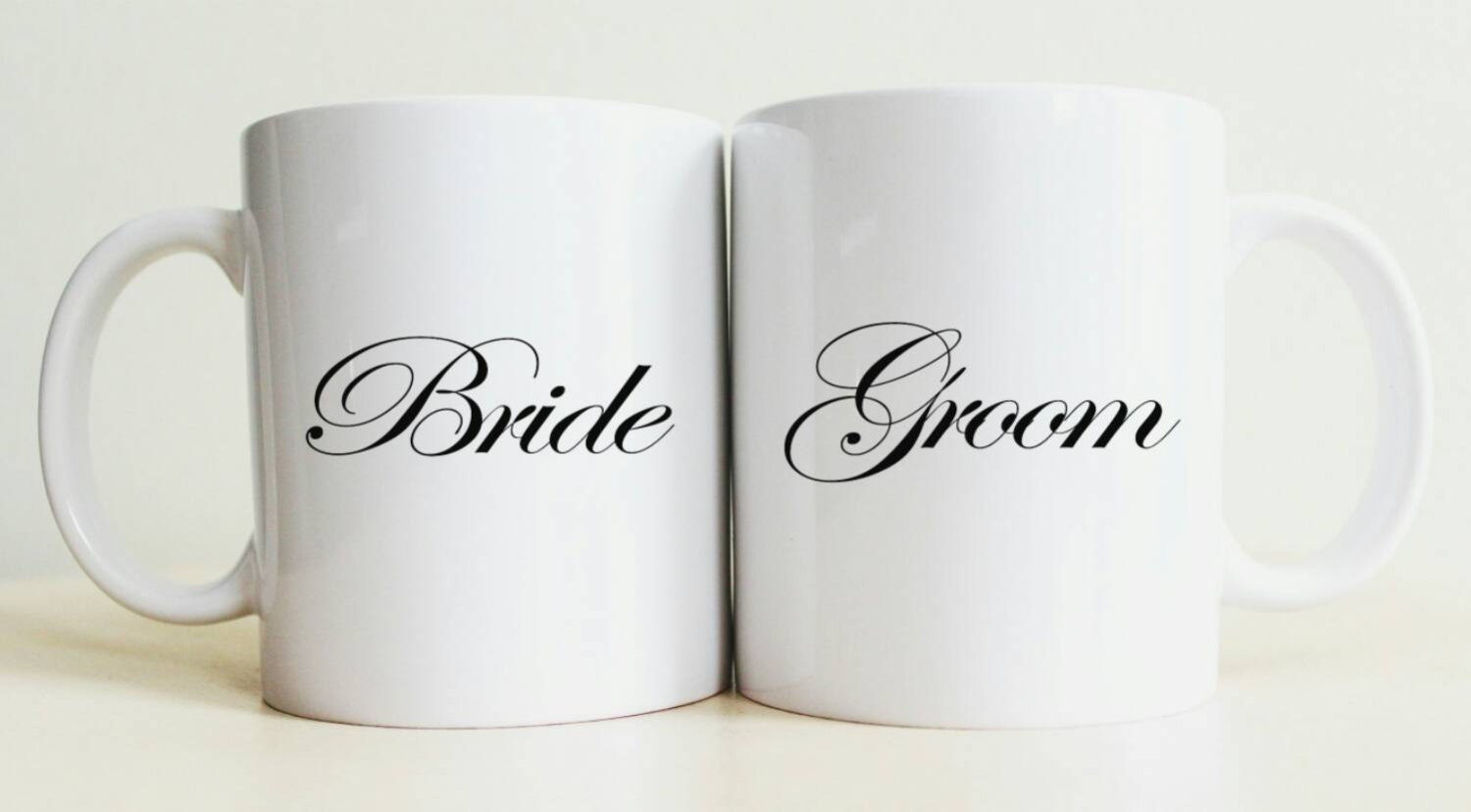Handmade Wedding Gifts For Bride And Groom: Bride And Groom Mug Set Unique Wedding Gift Custom Bride