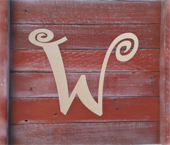 Decorative wooden letters w large or small unfinished for Small wooden letters for crafts