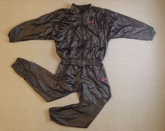 1990's, blousey, billowy, warm-up suit, in black, by Adidas, Women's size Medium
