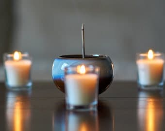Incense burner with candles (printed photo)