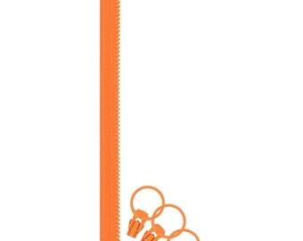 Jelly Freedom Zipper + 3 Pulls - Orange by Lecien (57632-40)