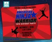 Ninja Warrior Invitations, Ninja Warrior Party, ANW Birthday Party, Ninja Warrior Invitation - Digital Printables