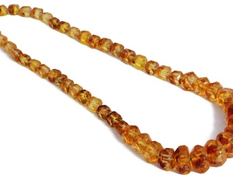 Resin Necklace Amber Inclusion Vintage