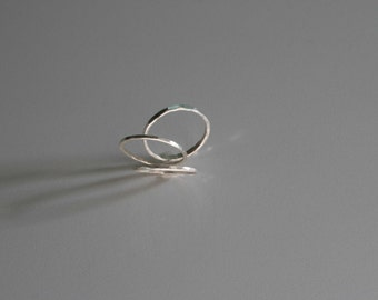 Sterling Silver Hammered Stacking Ring (1 ring) - Thin Bands - Made by Hand - Wild Grace Jewelry