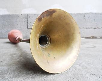 Rare Antique Awaz Brass Car Horn - Antique Car Horns - Vintage Brass Horns - Vintage Car Parts - Old Automotive Parts - Trumpet Car Horn