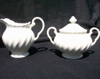 Johnson Brothers Regency White Creamer and Sugar set