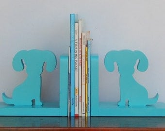 Handmade Dog/Puppy Bookends - Children, Nursery Bookends