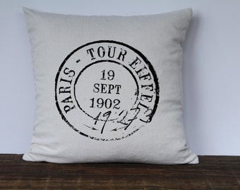 Paris Postmark Pillow