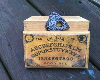 Miniature Travel OUIJA Board Game! Trinket Box, Dollhouse OOAK