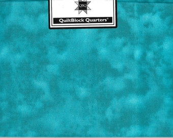 Quiltblock Quarters Fat Quarter Turquoise Fabric Cotton Quilting Cloth 18 x 21 Material Craft Supply Quilt Project New In Package