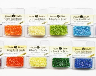 Mill Hill Glass Seed Beads 1.30 Each, 2.5 mm Seed Beads, Glass Seed Beads, Needlework Beads, Beading, 11/0 Seed Beads, Beading Supplies