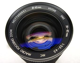 Vivitar 77600951, Nikon AIS mount, 28-85mm, f/3.5-4.5 macro focusing zoom lens