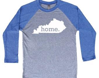 Homeland Tees Kentucky Home Tri-Blend Raglan Baseball Shirt