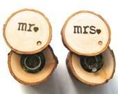 Ring Pillow Alternative, Wedding Ring Box, Wedding Ring Bearer Box, Wood Ring Box, Tree Branch Ring Box