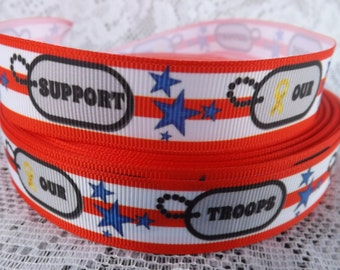 Support our troops ribbon 7/8 troops ribbon military ribbon