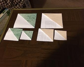 Green Salt and Cream/White Paper Corner Bookmarks