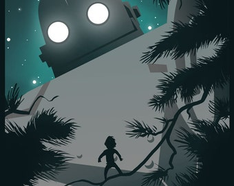 The Iron Giant 11x14 Robot Art Print
