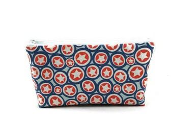 Captain America Makeup Bag, Zipper Pouch, Tampon Case, Zippered Cosmetic Bag, Toiletry Bag, Purse Organizer, Small Bag, Glam Bag