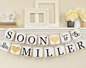 Soon To Be Mrs Banner, Bridal Shower Decorations, Bridal Shower Banner, Soon To Be Mrs, Bachelorette Party, Bridal Shower Gold Glitter, B206