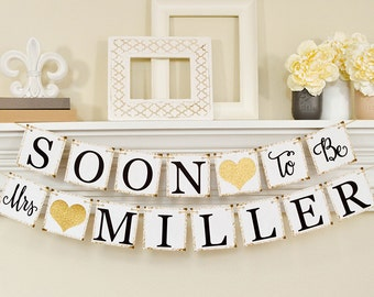 soon to be mrs banner bridal shower decorations bridal shower banner soon to