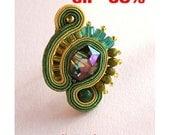 RING, Soutache Green Ring, HANDICRAFT