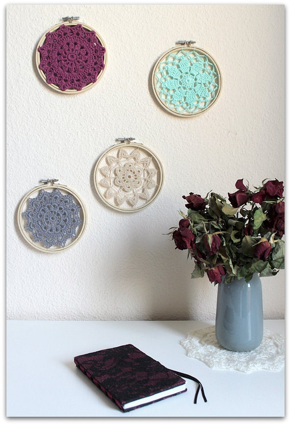 Nursery Decor, Crochet Mandala Dreamcatcher, Wall Hanging, Home Decor, Nursery Wall Art, Doily. One to choose