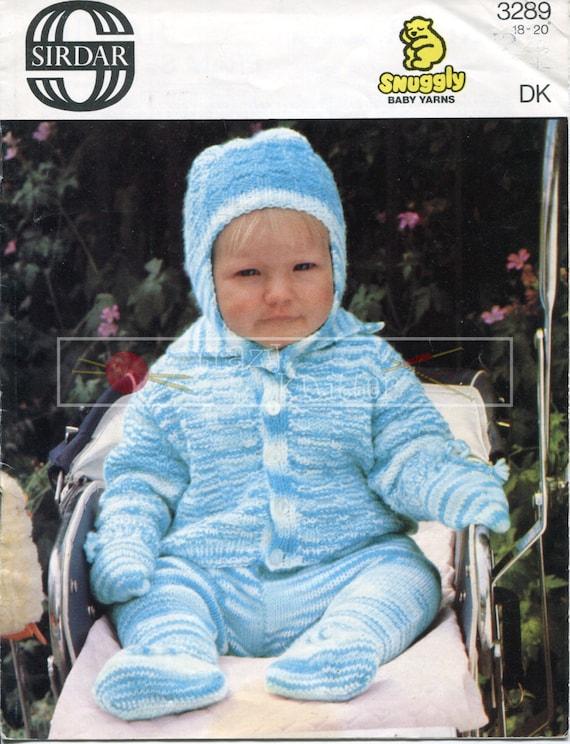 """Baby Pram Set DK 18-20"""" Sirdar 3289 Vintage Knitting Pattern PDF instant download"""