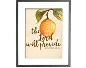 """The Lord Will Provide - Genesis 22:14 Print - INSTANT DOWNLOAD - 8""""x10"""" Printable Art"""
