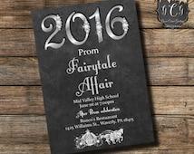 Fairytale Prom Invitation, Prom Invitations, Prom Invite, Prom Invites,Diamond Invitations, High School Prom, High School Dance, Graduation