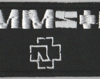 Rammstein embroidered patch industrial rock hard rock