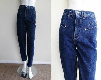 Vintage Puma High Waist Blue Denim Skinny Jeans