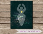 Goddess Symbol Yellow Flower Nature Photographic Art Wall Print - 11x14 inches - Meditation Art - Pagan Art - INSTANT DIGITAL DOWNLOAD