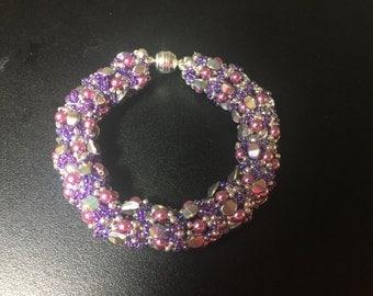 Beaded pearl bracelet (Ellad pattern)