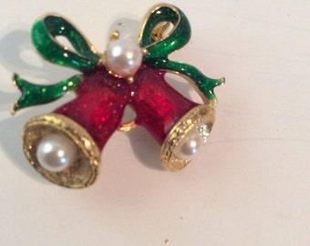 Christmas bell brooch 1 in