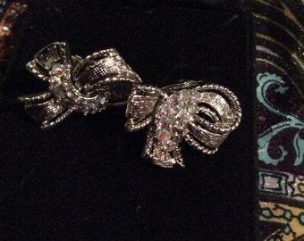 Silver tone clip on earrings 1 in