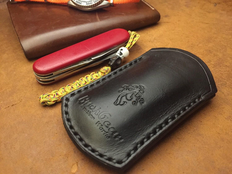 Pocket Knife Sheath Hand Made Leather