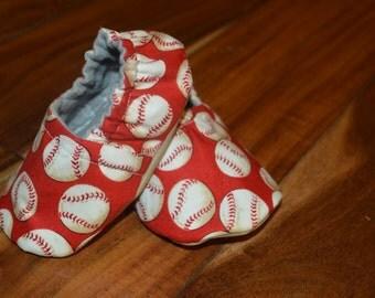 Baseball Baby Shoes / Baby Booties