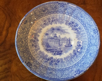 Grecian by Ridgway Flow Blue  Saucer