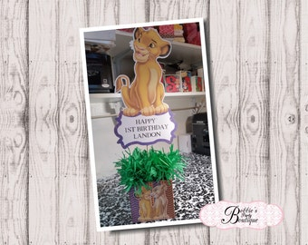 Lion King Centerpiece, Simba Centerpiece, Lion King Baby Birthday, Simba, Lion King Birthday Party Centerpiece