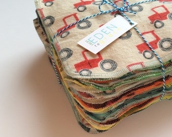 Cloth Wipes, 24 Reusable Family Cloth, Cloth Diaper wipes, set of 24