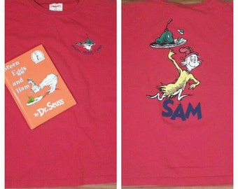 Vintage 1988 Children's Dr. Seuss Green Eggs and Ham book and 1995 Shirt!
