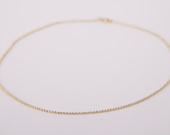 Gold Necklace Ball Chain Plated  Ballchain Plated Beads Bracelet Snake Layer Look Golden Necklace